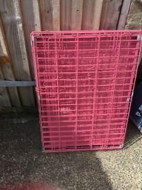 Medium dog cage pink