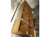 2 x Tall wooden shelving units - storage