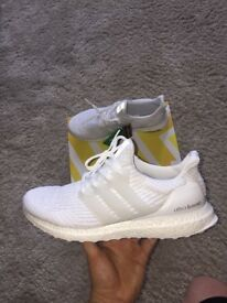 Adidas trainers. Triple white ultra boosts.