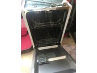 Swan Slimline Integrated Dishwasher 9 setting