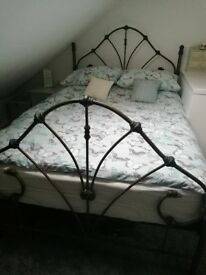 Metal double bed frame only.