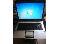 Laptop HP Pavilion dv6000, 3GB Ram, 120 GB HDD, Windows 7 Pro 64bit RARE BLURAY! NVIDIA Graphics