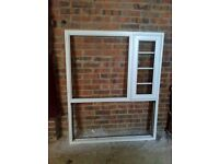 Ready to fit white PVCu double glazed window inc Fanlight all with A Rated glass