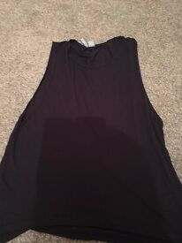 Vest Top with low slung arms - oversize