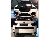BMW X6 E70 2007 to 14 Mansory Style Full Body Kit Front Bumper Rear Bumper Grills LED Lights Exhaust