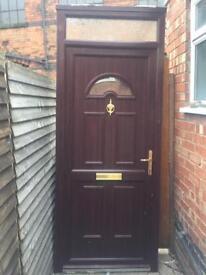 PVC rosewood door