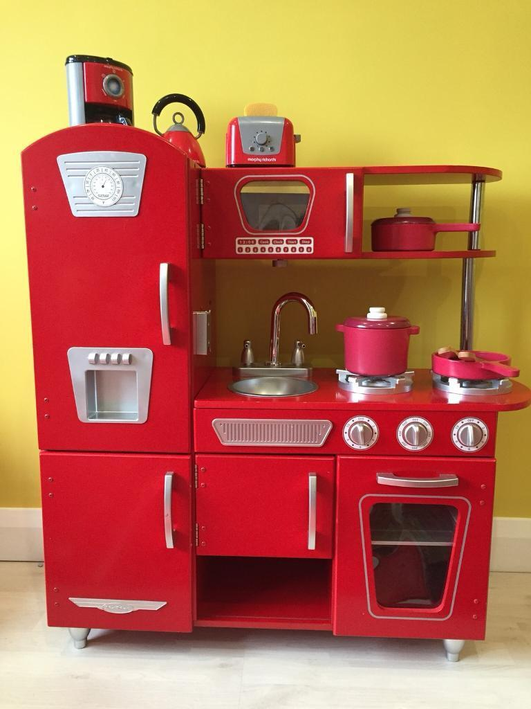 Red Play Kitchen Now Sold