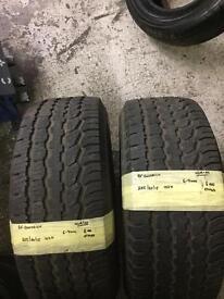 255/60/15 102H BF GOODRICH PAIR OF 2 Tyre