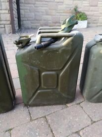 Olive green steel Jerry can 20L