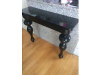 Black Gloss Console Table and matching Sideboard