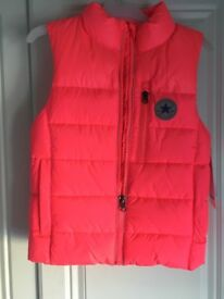Converse New Girls pink Gilet aged 5 - 6