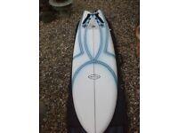 Circle one epoxy surfboard
