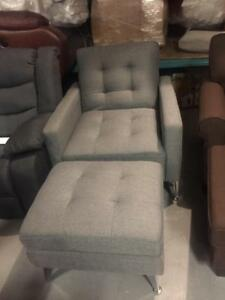 Arm Chair with Storage Ottoman  converts to Bed