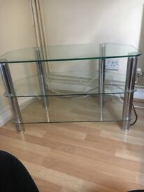Lovely Glass TV Stand