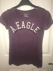 A.Eagle purple t-shirt