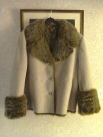 Ladies faux sheepskin jacket
