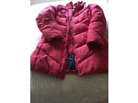 Ladies Quilted jacket in red, size14/ 16 . V good condition