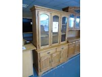 Lovely Solid Wood Dresser with Glazed doors