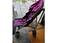 Mamas and papas purple stroller/pushchair