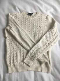 Ralph Lauren cream cable knit jumper