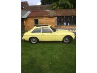 MGB GT 1971 MOT AND TAX FREE