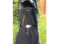 Mothercare Silvercross Pushchair - with cosytoe, raincover and storage bag all included