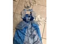 Cinderella dress and accessories (aged 3-5)