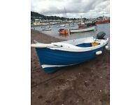 Orkney Fastliner 16' fishing boat with 15hp electric start outboard engine