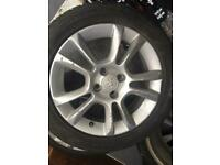 Vaxhall Cora 16ins alloys with tyres