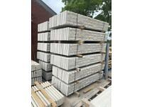 Reinforced 6x1 Concrete Fencing Base Panels / Gravel Boards - Rockface