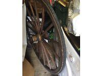 large carriage wheel