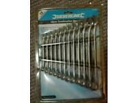 Silverline Combination Spanner 12-Piece Set Storage Rack