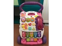 VTech Pink First Steps Baby Walker