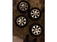 Peugeot 307s alloy wheels and tyres