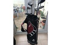 Complete junior golf set, Wilson Deep Red, age 9-12