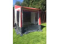 NR rio caravan porch awning with curtains