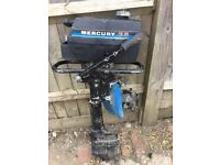 Trailer sailer project approx 14' Mercury 3.6 outboard engine