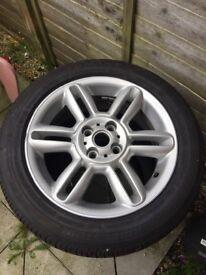 Mini alloy 16 with Bridgestone tyre
