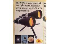 Powerful Low-Light Zoom Binoculars with Ruby Optics