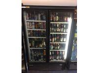 2 double door commercial fridge.