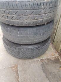 "Honda Civic 4 stud 14"" steel wheel with good tyres"