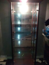 Glass cabinet for sale with light