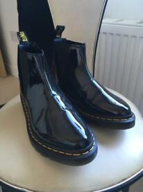 Dr Martin Bianca Patent Boots