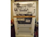 New Indisit freestanding gas cooker 22inches wide to outside of packaging