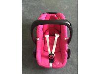Pink Maxi Cosi Pebble Car Seat