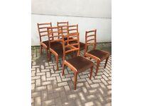 Set of 6 teak g plan retro chairs