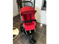 Red quinny buzz pushchair buggy pram