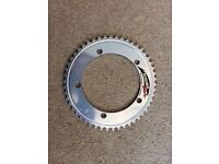 Sugino Zen Track Chainring - NJS - 50t - 1/8th - Silver - 144BCD