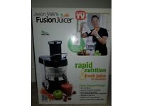 Brand new in box fusion juicer fruit and veg juicer rrp £100 open to officers