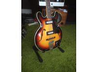 Vintage Antoria MIJ Semi Acoustic Bass